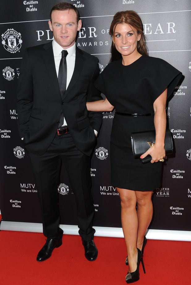 Coleen Rooney and Wayne Rooney attend Manchester United Player Of The Year Awards 2014, held at Old Trafford - 8 May 2014
