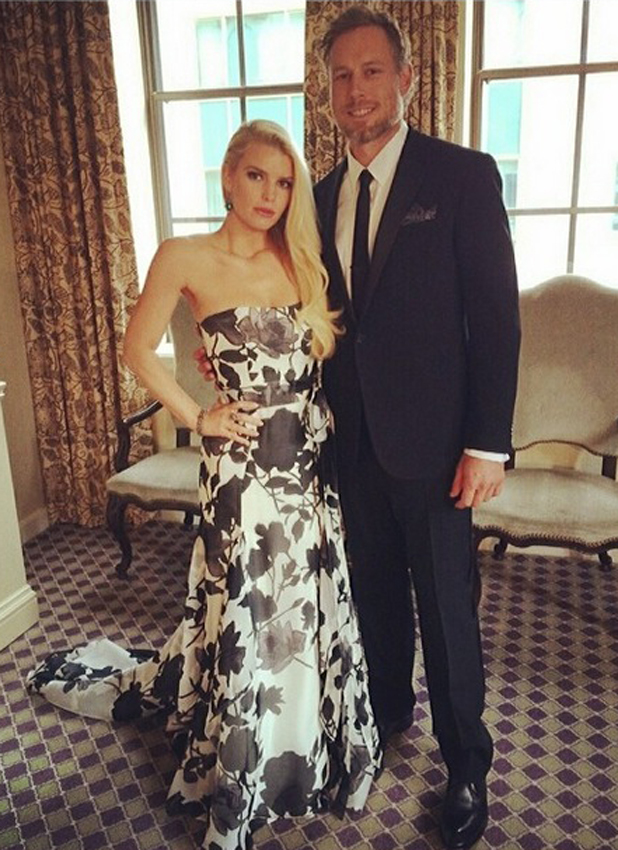 Jessica Simpson and Eric Johnson at the White House Correspondents' Dinner, May 2014