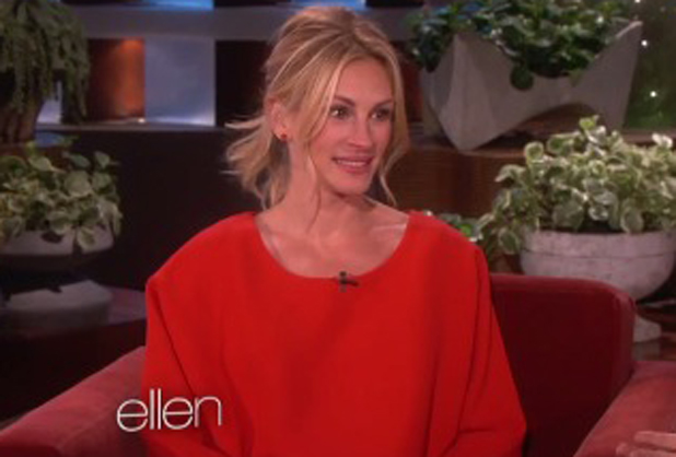 Julia Roberts appearing on Ellen DeGeneres Show, May 2014