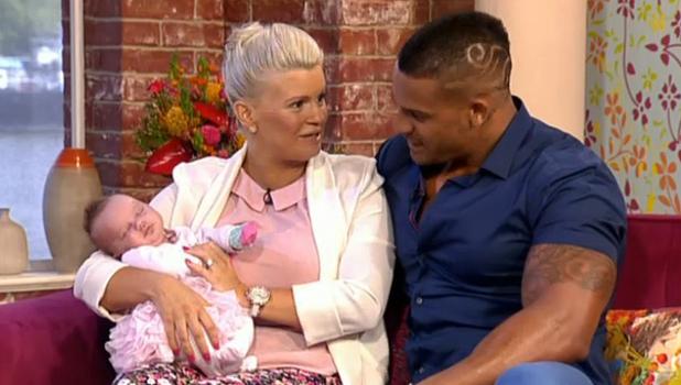 Kerry Katona's daughter DJ makes TV appearance on ITV's This Morning, 7 April 2014