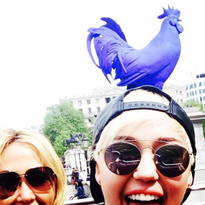 Miley Cyrus hits London ahead of her Bangerz world tour, May 2014