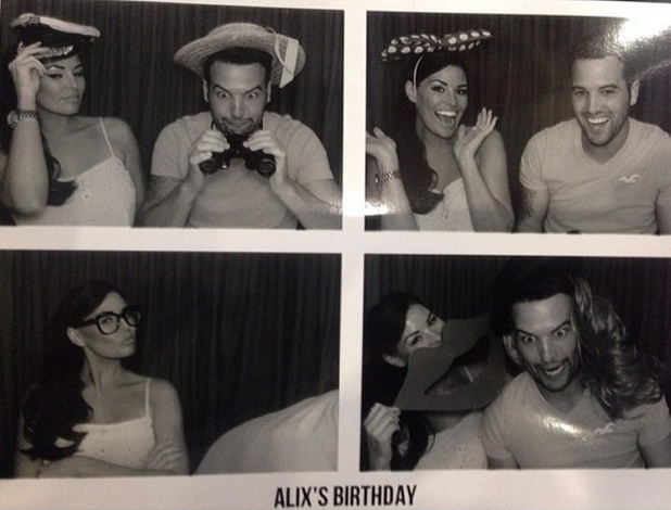 Jessica Wright and Ricky Rayment celebrate Alix Wright's birthday at Faces, Essex, 4 May 2014