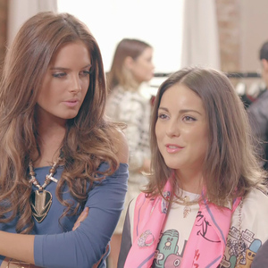 Made In Chelsea - Binky Felstead and Louise Thompson - 22 April 2014.