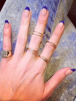 Rosie Fortescue blue manicure, May 14.