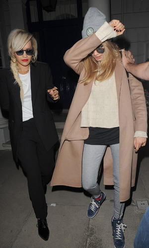 Rita Ora and Cara Delevingne, Chiltern Firehouse, London - 14 May 2014