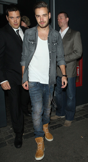 Liam Payne arrives at David Beckham H&M swimwear collection launch party at shoreditch house. 05/15/2014 London, United Kingdom