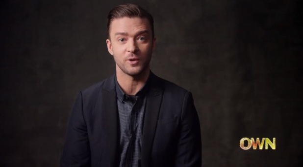 Justin Timberlake on Oprah's Master Class on OWN. (13 May).