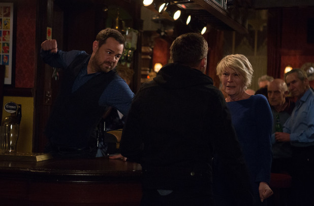 EastEnders, Mick punches Dean, Thu 15 May