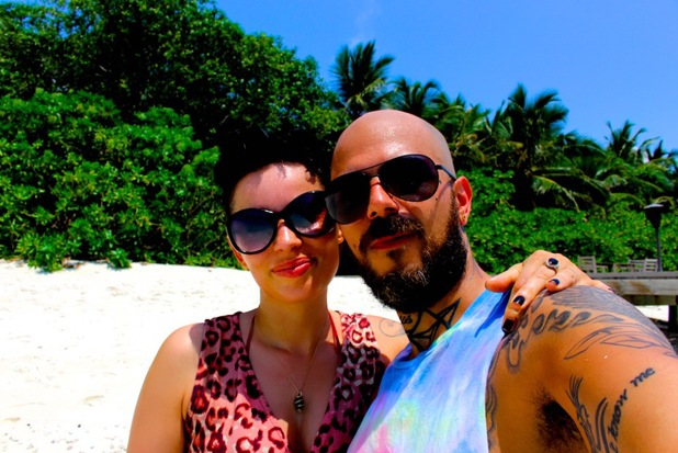 5ive's Abz Love and his girlfriend Vicky Fallon enjoy a romantic holiday in the Maldives - 12 May 2014