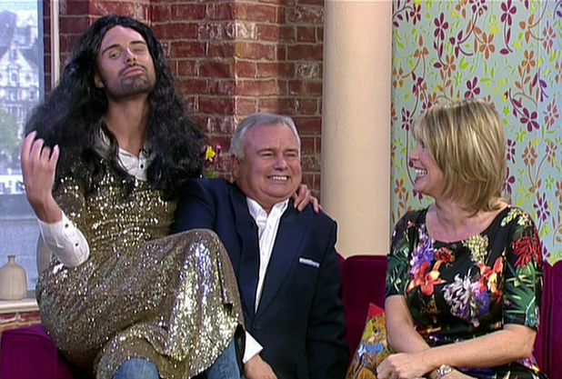 Rylan dresses up as Eurovision winner Conchita Wurst on This Morning - 16 May