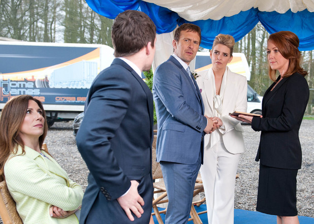 Emmerdale, Declan and Charity wed, Thu 15 May