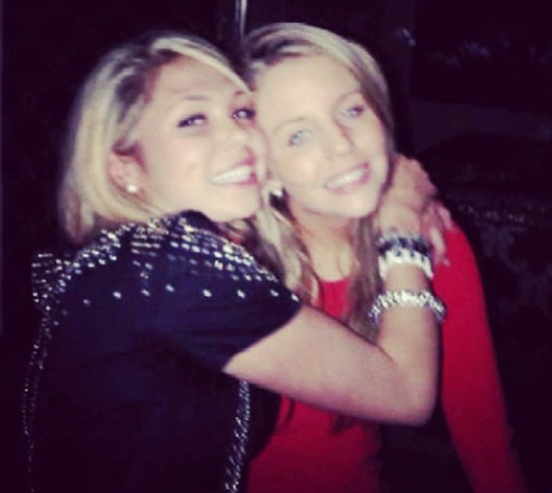 Fran Parman has blonde hair in throwback picture with Lydia Bright - 15 May 2014