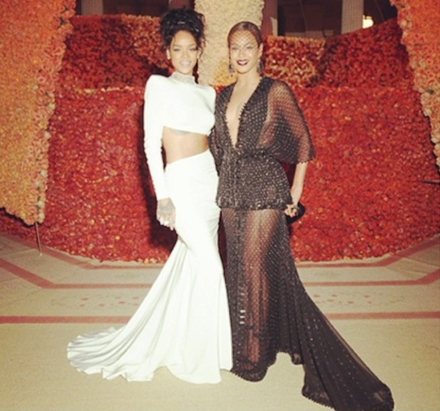 Beyonce shares picture of herself and Rihanna at the Met Ball Gala following Solange/ Jay-Z fight rumours - 14 May 2014