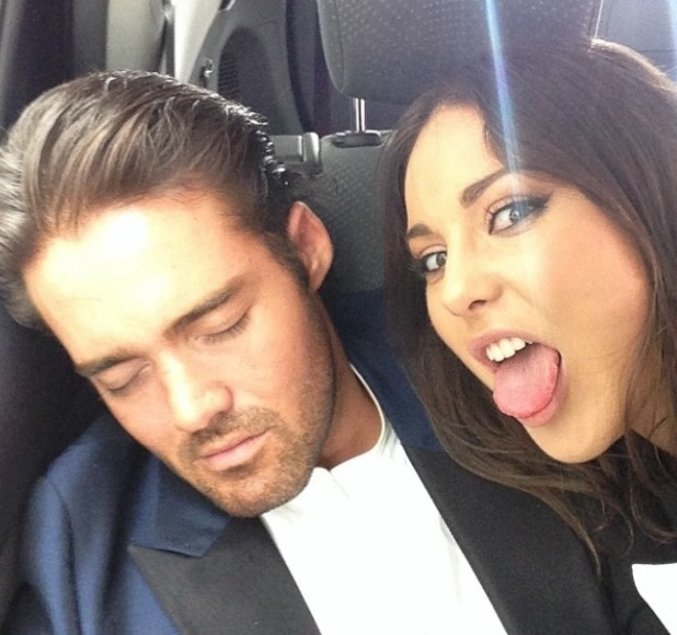 Made In Chelsea's Louise Thompson pulls funny face at co-star Spencer Matthews (7 May).