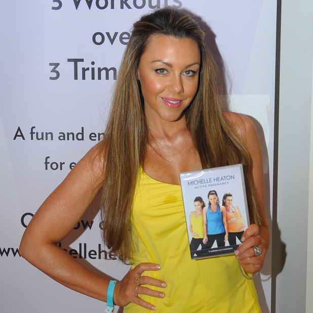 Michelle Heaton launches her fitness video 'Active Pregnancy' at The Baby Show in Birmingham, 17 May 2014