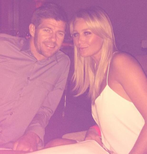 Alex Gerrard pictured on holiday in Dubai with husband Steven - 15 May 2014
