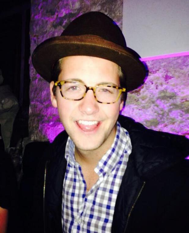 Made In Chelsea's Stevie Johnson channels Proudlock's image with brown hat and glasses (14 May).