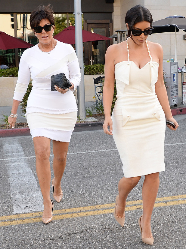 Kim Kardashian and Kris Jenner go shopping in Beverly Hills, Los Angeles, America - 10 May 2014