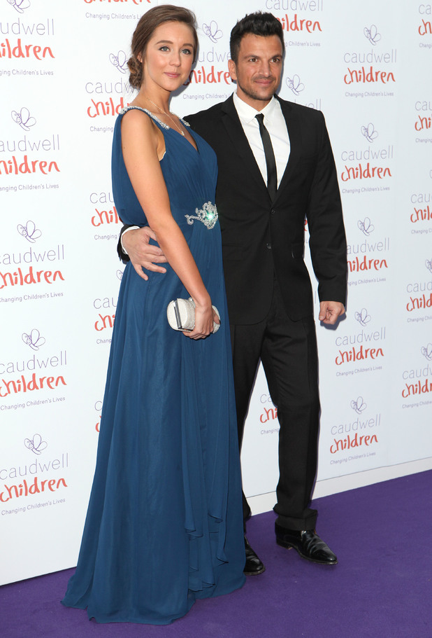 Peter Andre and Emily MacDonagh attend the Caudwell Children Butterfly Ball at the Grosvenor Hotel in London, England - 15 May 2014