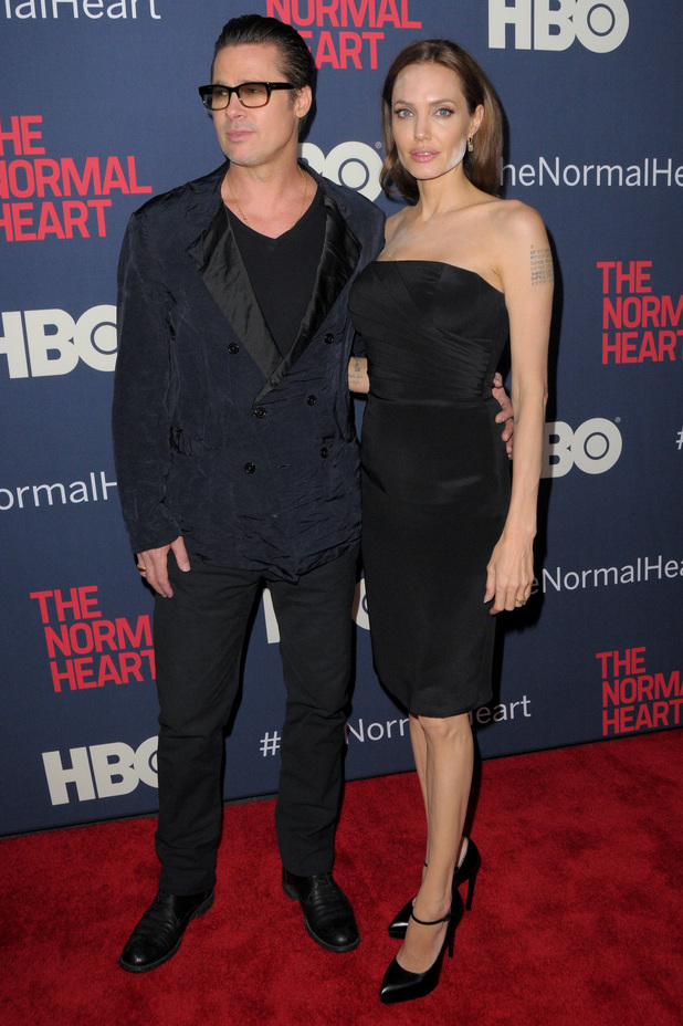 Angelina Jolie and Brad Pitt attend the premiere of HBO's The Normal Heart in New York, America - 12 May 2014