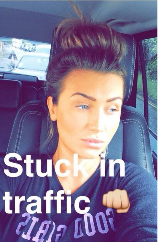 Lauren Goodger shares selfie from the car 13.05.14