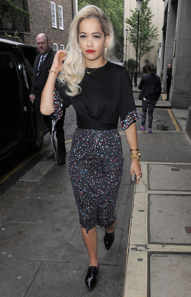 Rita Ora leaves the KISS FM Radio studios in London, England - 13 May 2014