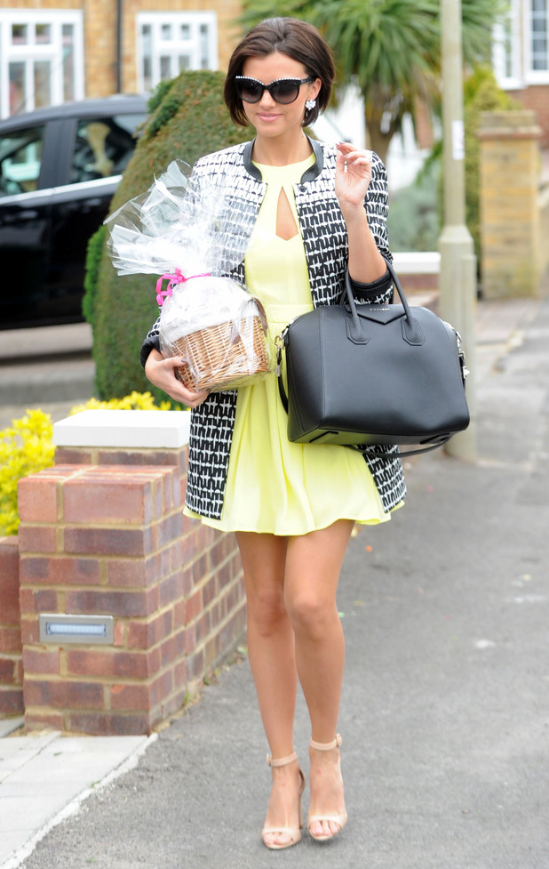 Lucy Mecklenburgh shows off her new haircut while heading to Billie Faiers' baby shower in Brentwood, Essex - 11 May 2014