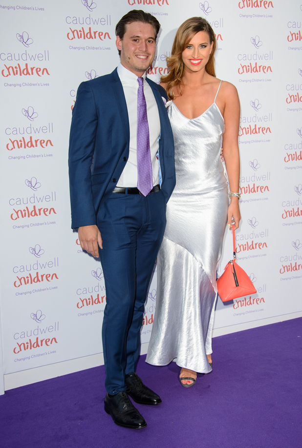 Ferne McCann and Charlie Sims attend Caudwell Children Butterfly Ball 2014 held at the Grosvenor Hotel - Arrivals, 15 May 2014