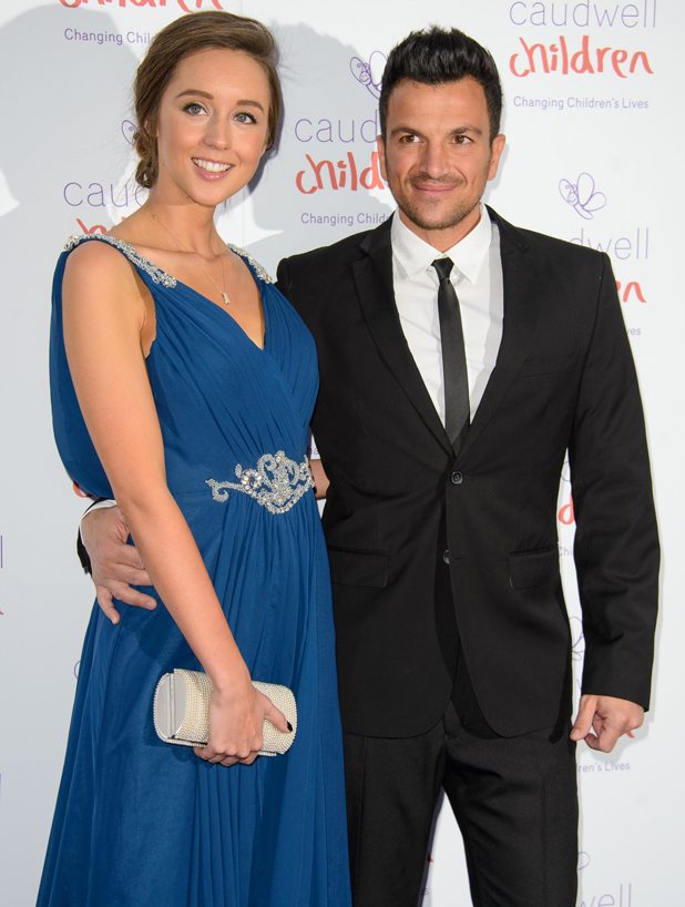 Emily MacDonagh and Peter Andre at Caudwell Children Butterfly Ball held at The Grosvenor House Hotel in London, UK, 15 May 2014