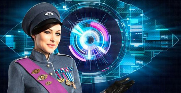 Big Brother series 15 - Emma Willis and the futuristic logo, 16 May 2014
