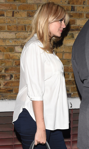 Pregnant Holly Willoughby seen leaving the Riverside Studios after appearing on the final Celebrity Juice show of the series, 14 May 2014