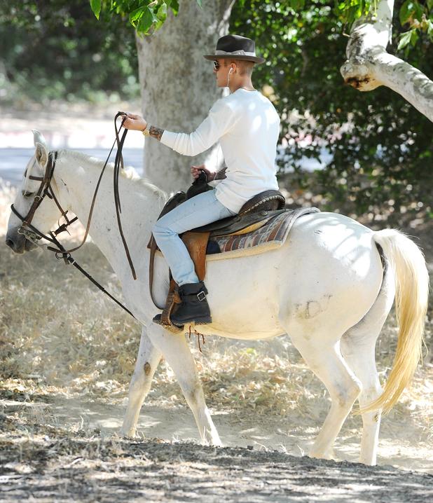 Justin Bieber goes Horseback Riding, Los Angeles, America - 12 May 2014