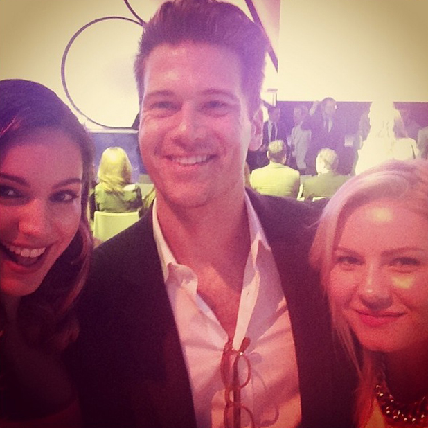 Kelly Brook with her One Big Happy co-stars at the NBC Upfront, New York, America - 12 May 2014