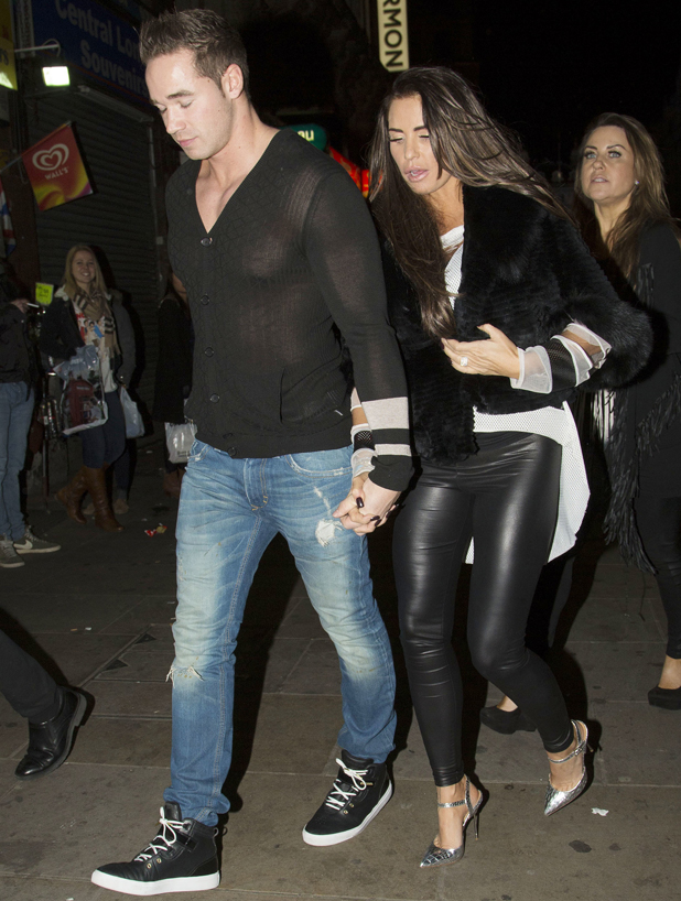 Katie Price and husband Kieran Hayler leave Cafe De Paris after a night out, 2014