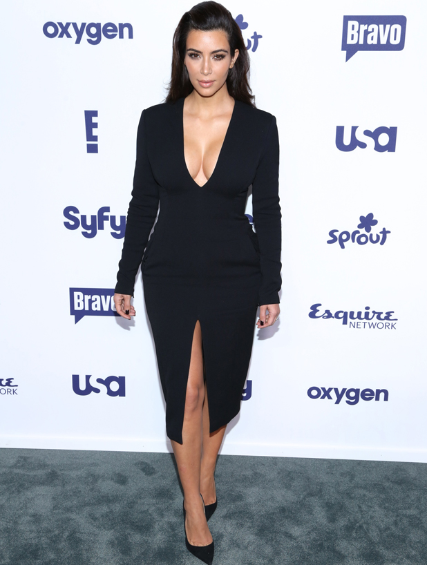 Kim Kardashian at the NBC Universal Cable Entertainment Upfronts at The Jacob K. Javits Convention Center on May 15, 2014 in New York City.