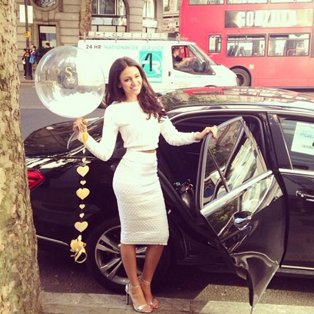 Michelle Keegan on the shoot for her first ever clothing collection for Lipsy - 14 May 2014