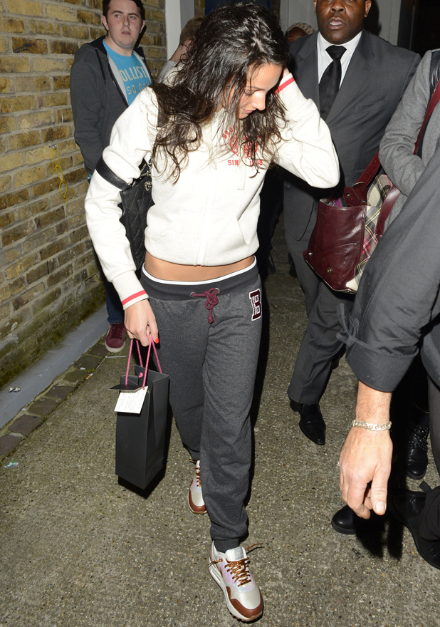 Michelle Keegan at the Riverside Studios, London, Britain after filming Celebrity Juice - 14 May 2014