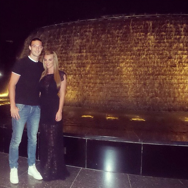 Billi Mucklow and Andy Carroll enjoy an evening out together in Dubai, 16 May 2014