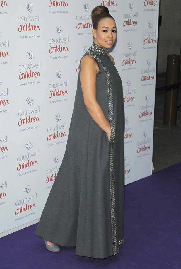 Pregnant Rebecca Ferguson at The Caudwell Children Butterfly Ball held at The Grosvenor House Hotel in London, UK, 15 May 2014