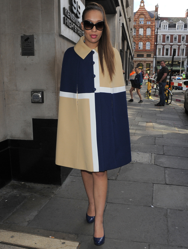 Rebecca Ferguson leaves the Sony record label office in London after a meeting about her third album, 14 May 2014