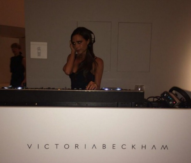 Victoria Beckham DJ'ing