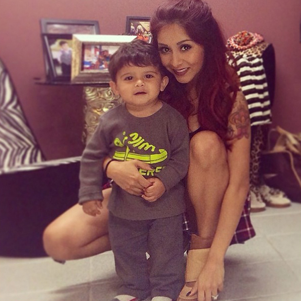 Snooki posts touching message to fiance Jionni LaValle on Mother's Day, thanking him for their son Lorenzo, one. 11 May 2014