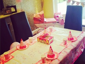 Rochelle Humes gets ready for her daughter's first birthday