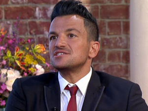 Peter Andre appears on ITV's This Morning to promote album Big Night, 20 May 2014