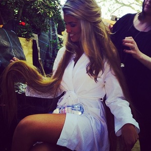 Amy Willerton shows off her hair and make-up at the RHS Chelsea Flower Show - 19 May 2014