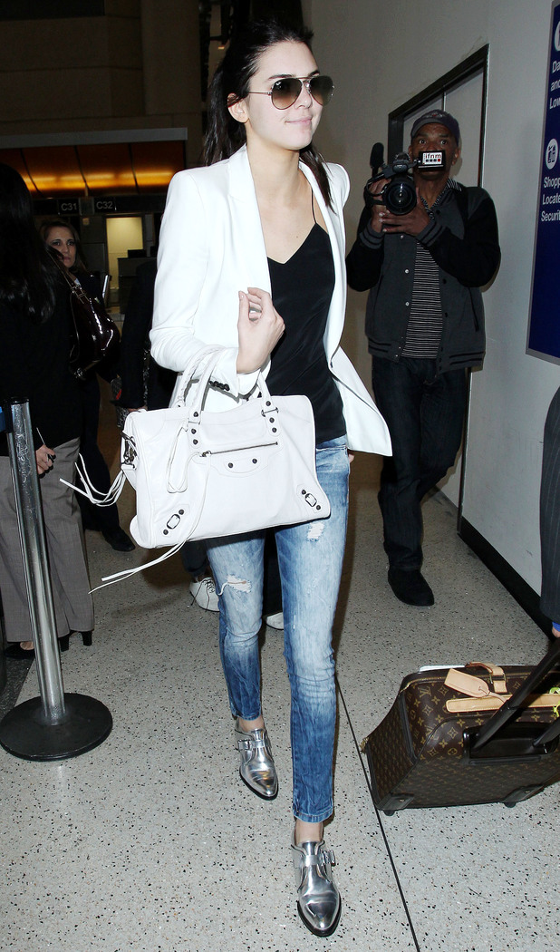 Kendall Jenner steps out at Los Angeles International Airport in America, 19 May 2014