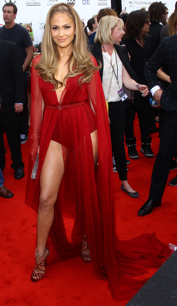 Jennifer Lopez wears a revealing outfit as she attends the 2014 Billboard Music Awards in Las Vegas, America - 18 May 2014
