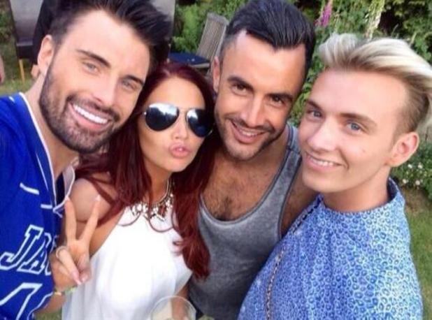Amy Childs hangs out with Rylan Clark, his boyfriend Dan Neal and cousin Harry Derbidge - 19 May 2014