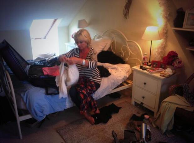Jane Felstead helps Binky pack for New York Made In Chelsea trip - 21 May 2014