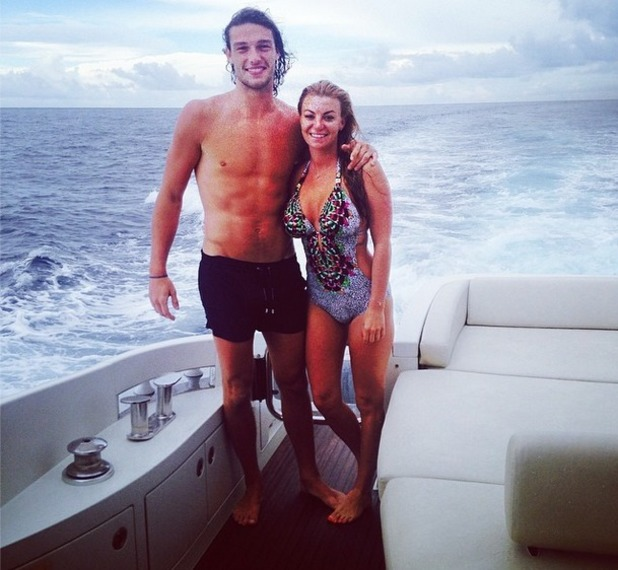 Billi Mucklow and Andy Carroll boat ride in Maldives - 20 May